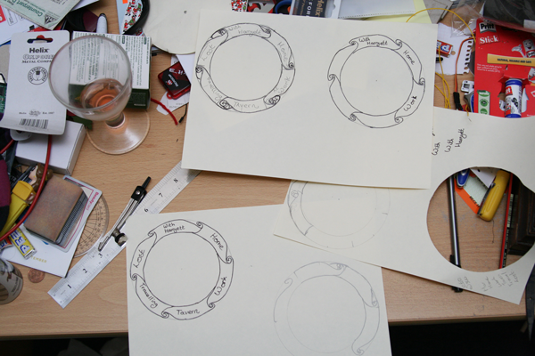 Drawing the clock face